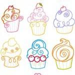 4x4 Set Cupcake Cup Cake A..